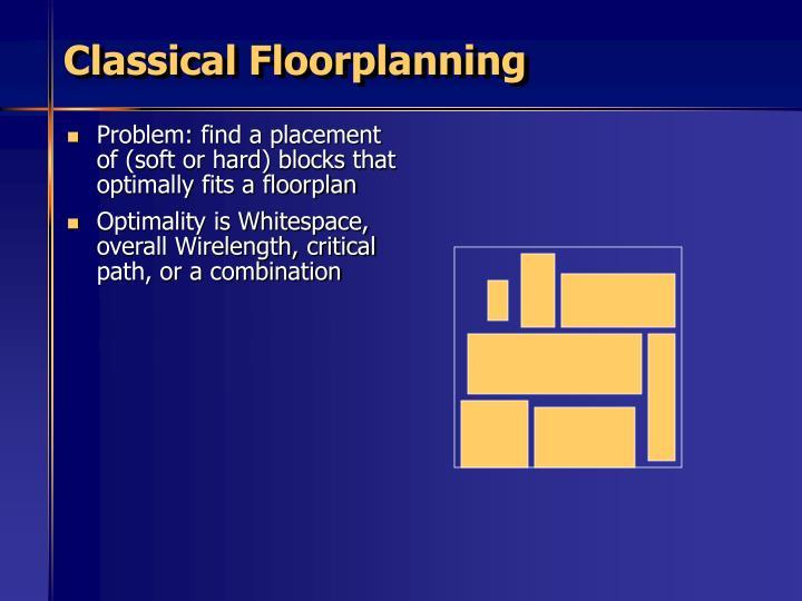 Classical Floorplanning