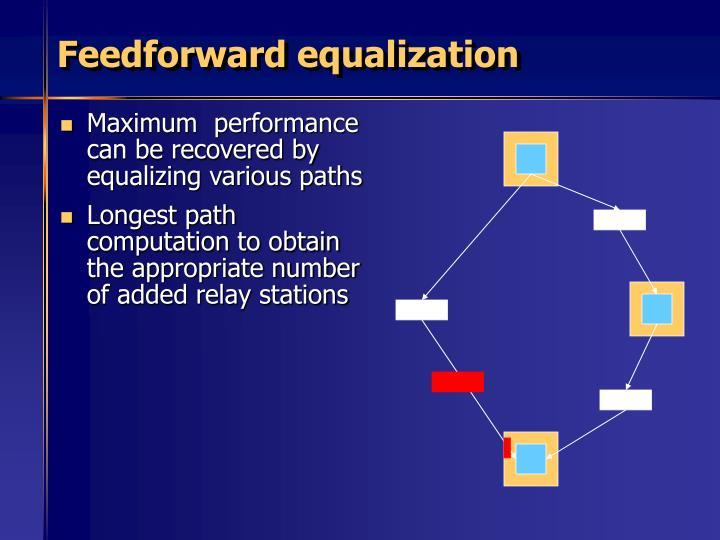 Feedforward equalization