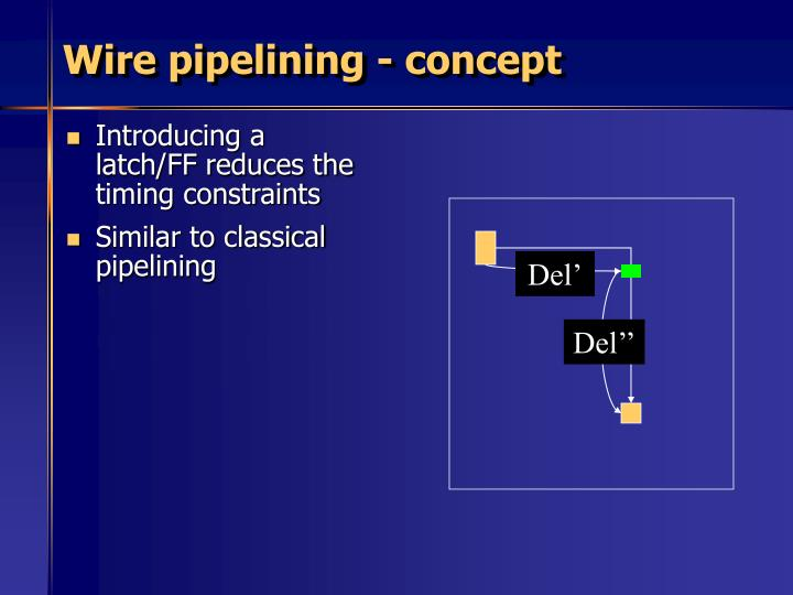 Wire pipelining - concept
