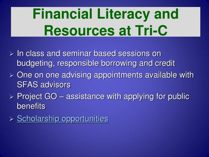 Financial Literacy and