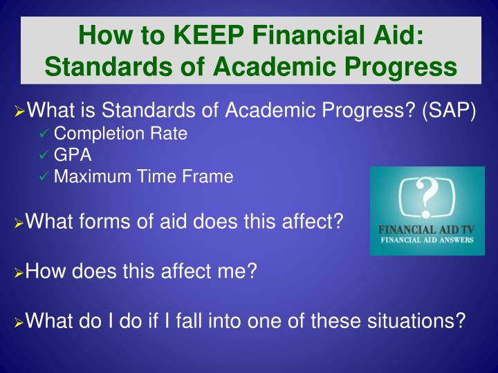 How to KEEP Financial Aid: