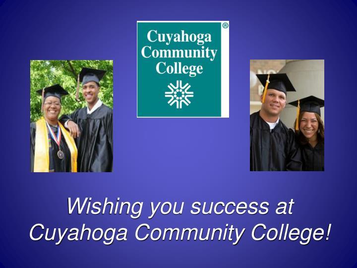 Wishing you success at