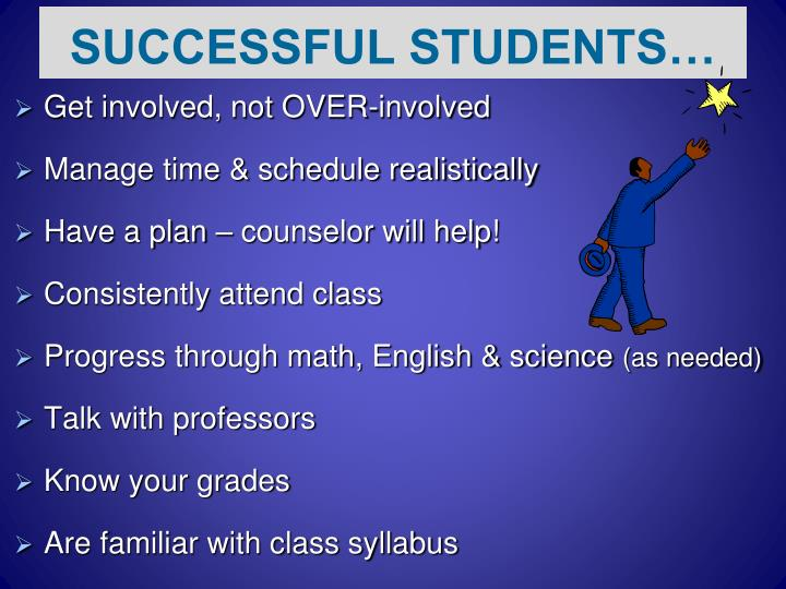 SUCCESSFUL STUDENTS…