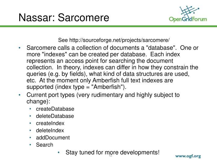 Nassar: Sarcomere
