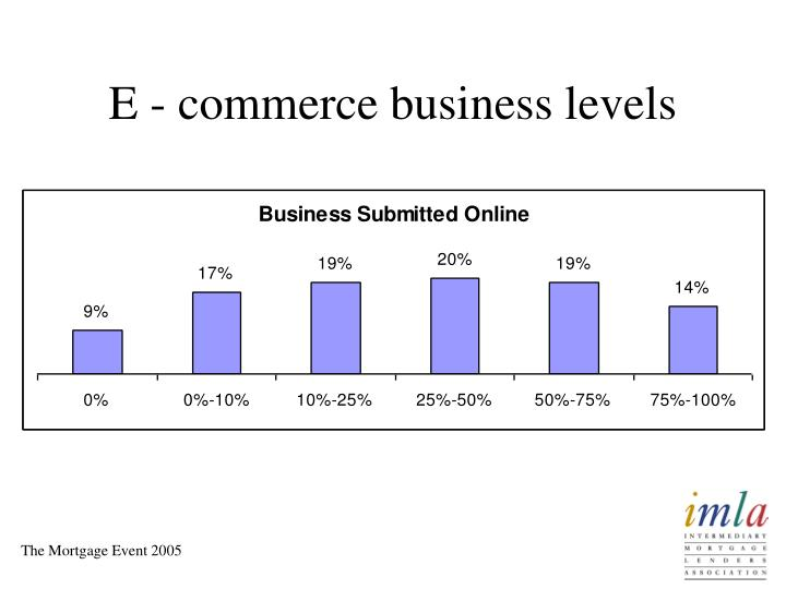 E - commerce business levels
