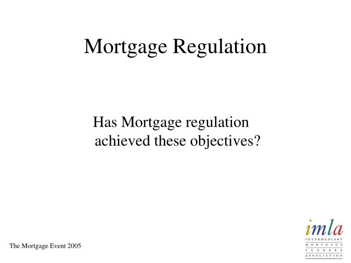 Mortgage Regulation