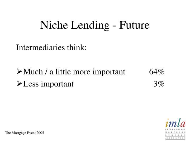 Niche Lending - Future