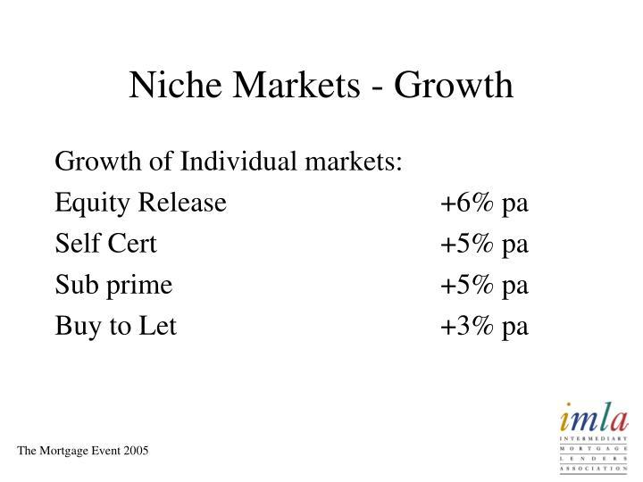 Niche Markets - Growth