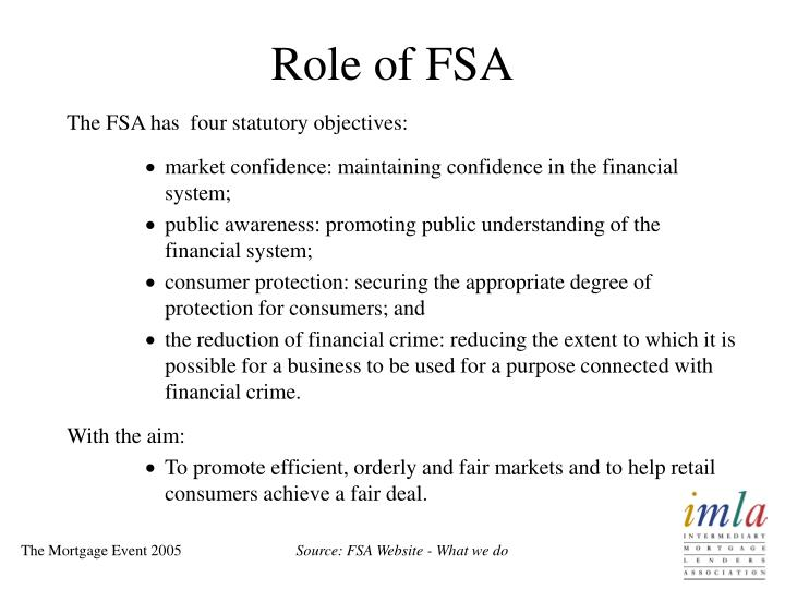 Role of fsa