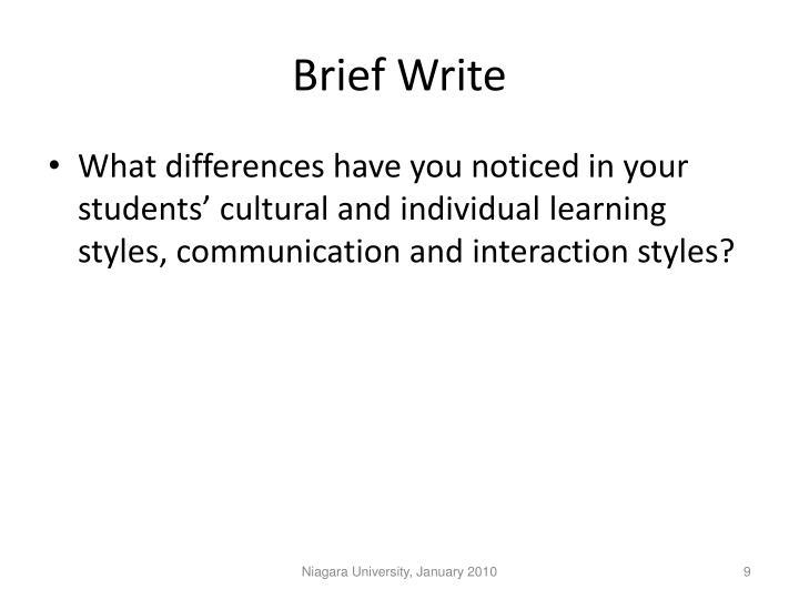 Brief Write