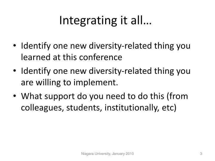 Integrating it all…
