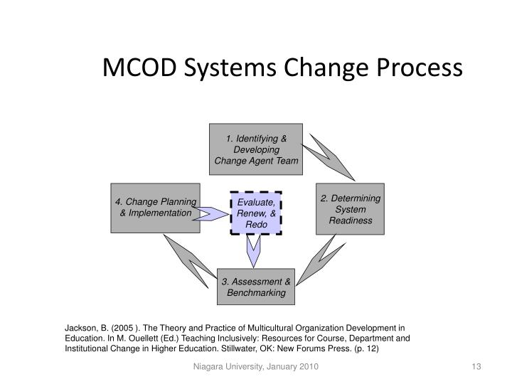 MCOD Systems Change Process