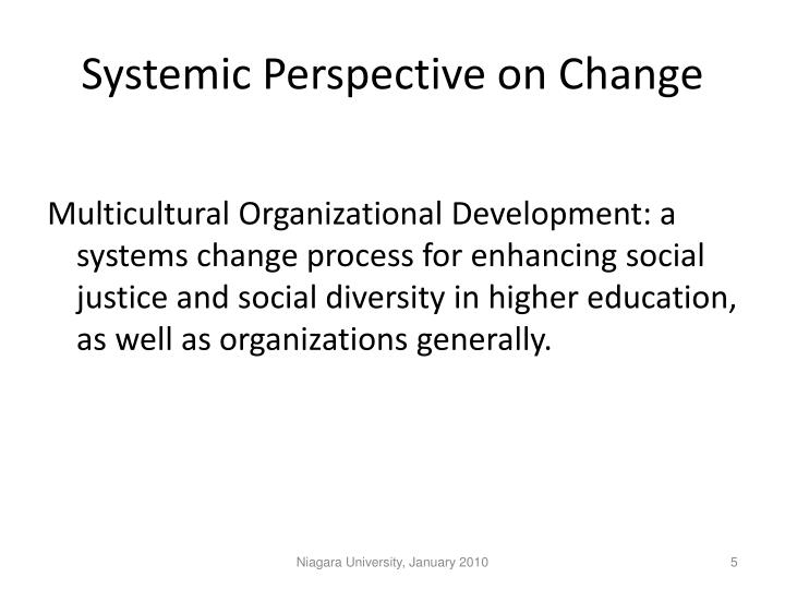 Systemic Perspective on Change