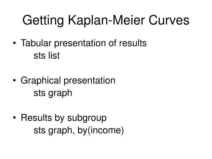 Getting Kaplan-Meier Curves