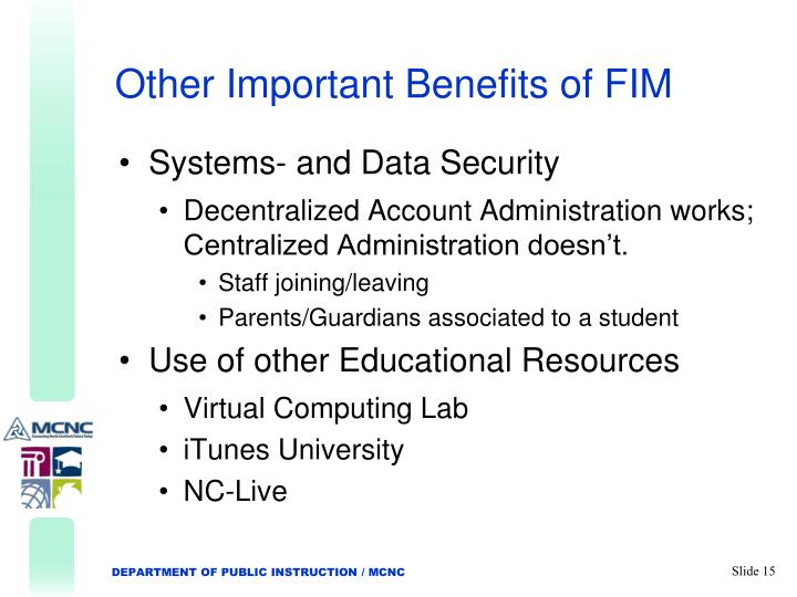 Other Important Benefits of FIM