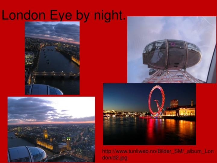 London Eye by night...