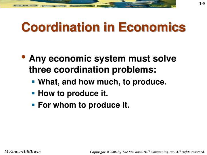 Coordination in Economics