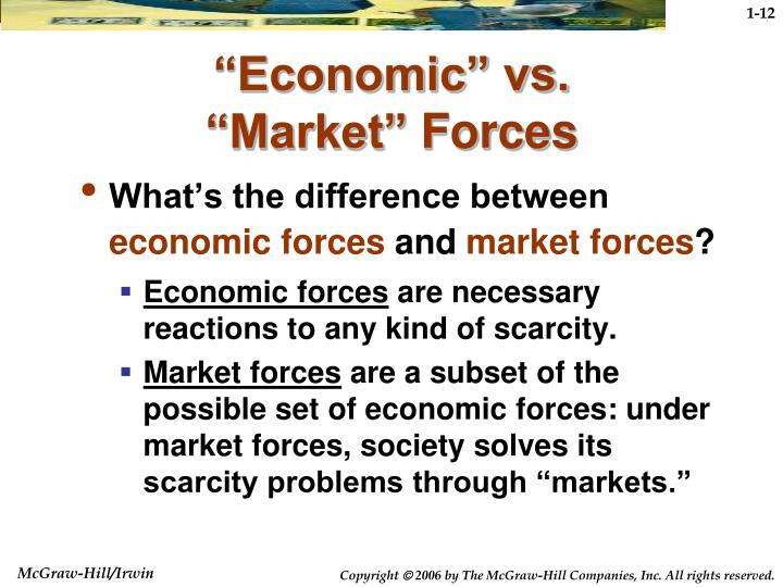 """Economic"" vs."
