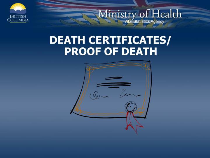DEATH CERTIFICATES/