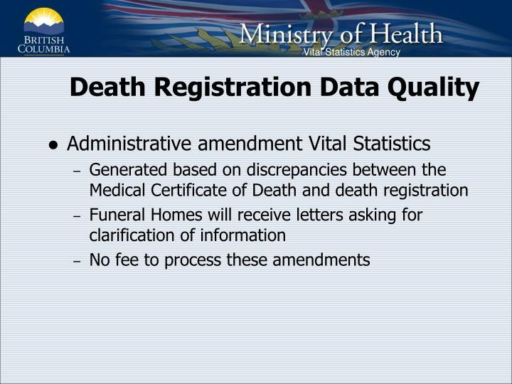 Death Registration Data Quality