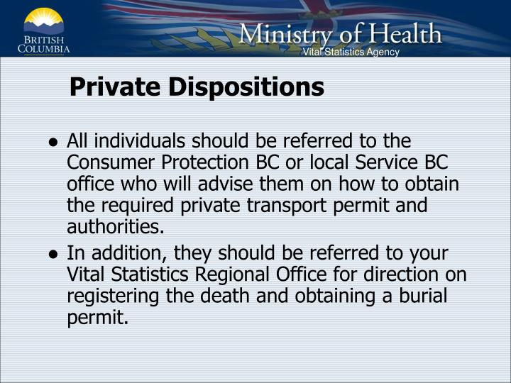 Private Dispositions