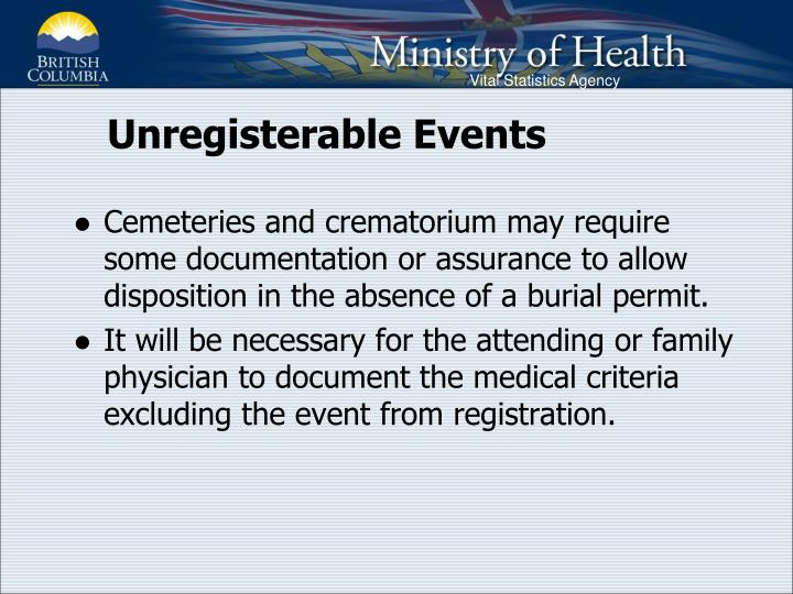 Unregisterable Events