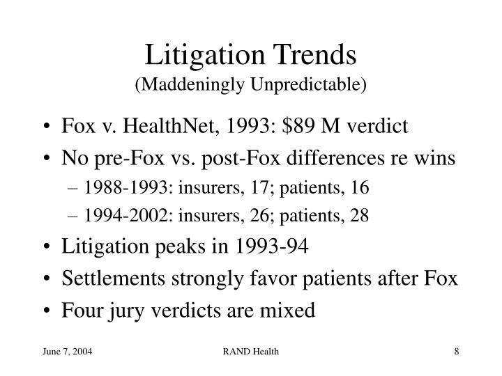Litigation Trends