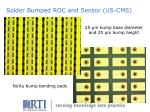 solder bumped roc and sensor us cms