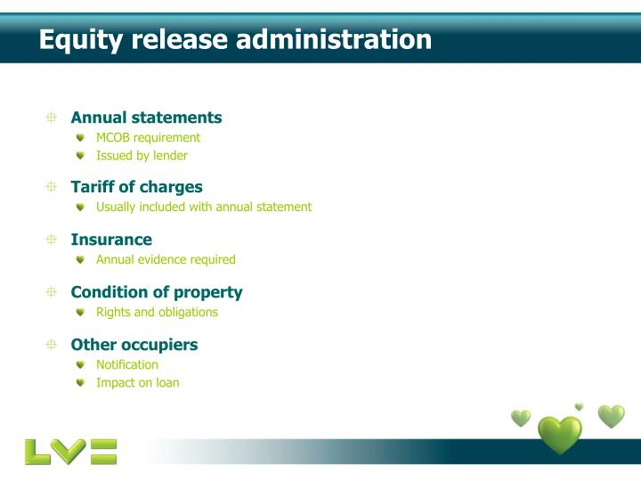 Equity release administration