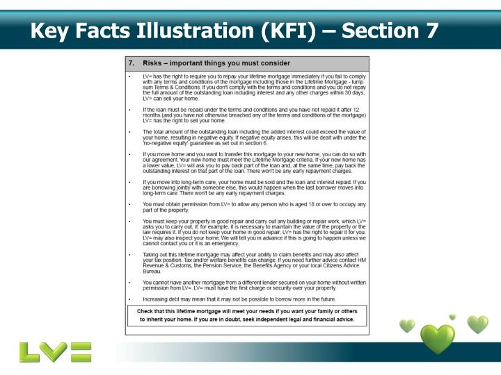 Key Facts Illustration (KFI) – Section 7