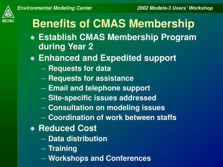 Benefits of CMAS Membership