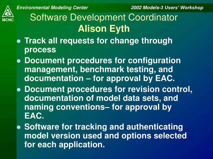 Software Development Coordinator