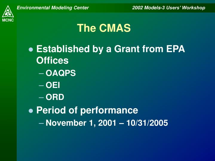 The CMAS