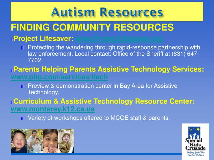 FINDING COMMUNITY RESOURCES