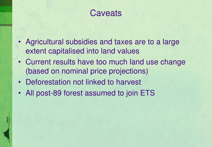 Agricultural subsidies and taxes are to a large extent