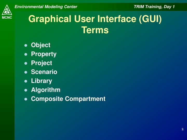Graphical User Interface (GUI) Terms