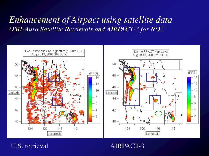 Enhancement of Airpact using satellite data