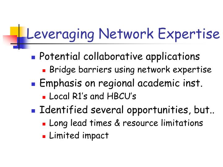 Leveraging Network Expertise