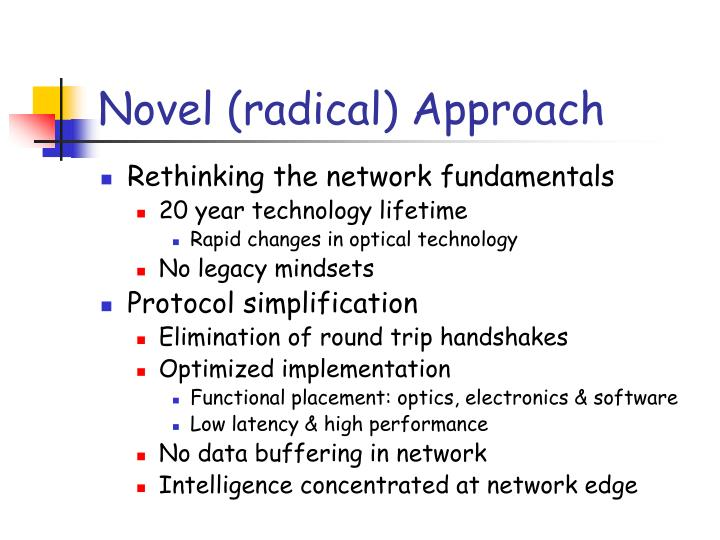 Novel (radical) Approach