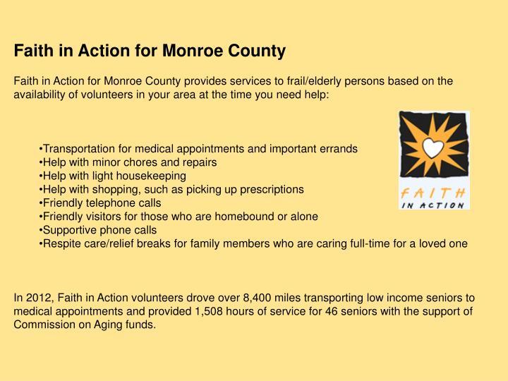 Faith in Action for Monroe County