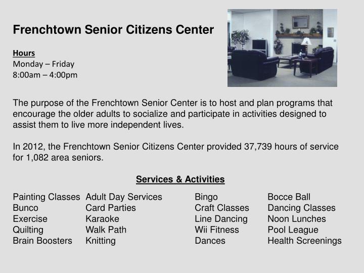 Frenchtown Senior Citizens Center