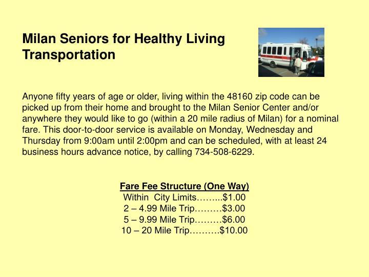 Milan Seniors for Healthy Living
