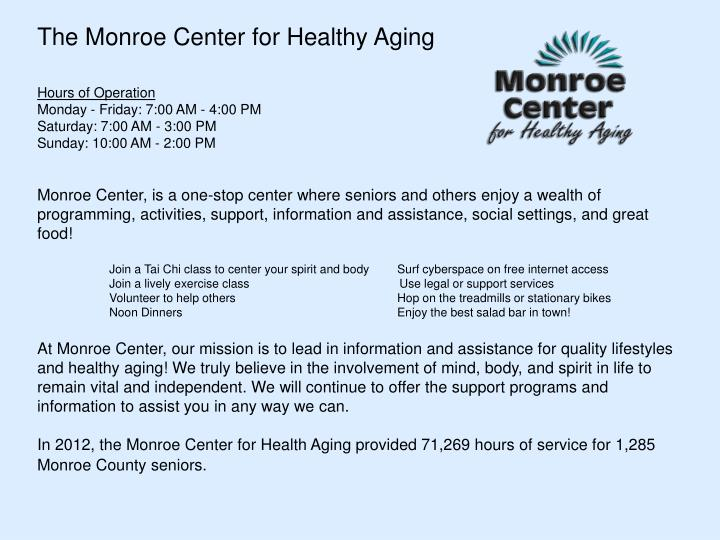 The Monroe Center for Healthy Aging