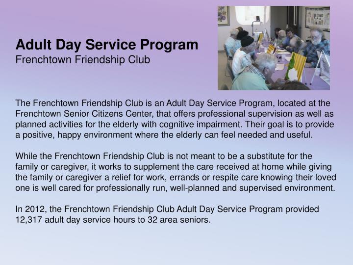 Adult Day Service Program