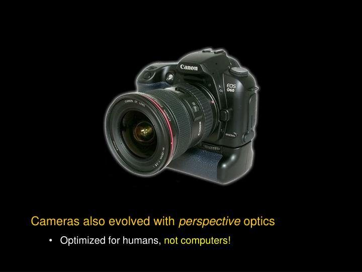 Cameras also evolved with