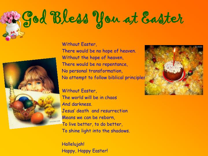 God Bless You at Easter