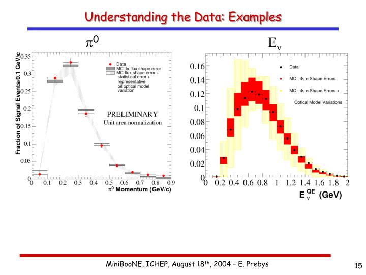Understanding the Data: Examples