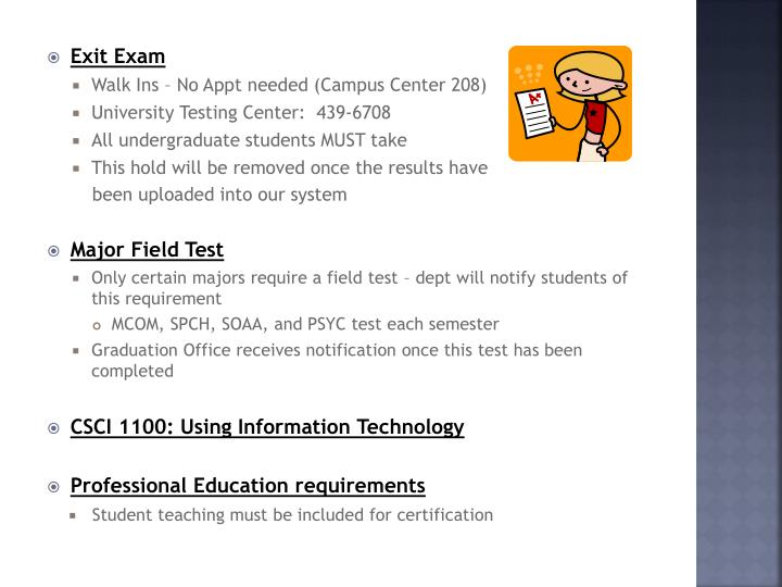 Exit Exam
