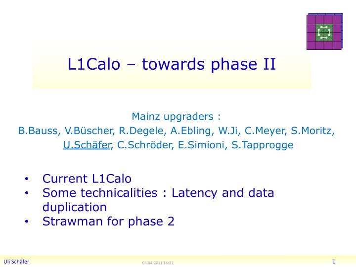 L1calo towards phase ii