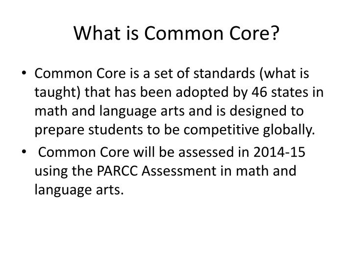 What is common core